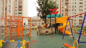 Детская площадка на Бульваре Роз в г. Энгельс