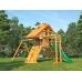 Детская площадка для дачи Крепость с рукоходом (Домик), серия Premium