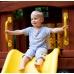 Детская деревянная площадка «Новый рассвет» с винтовой горкой и рукоходом