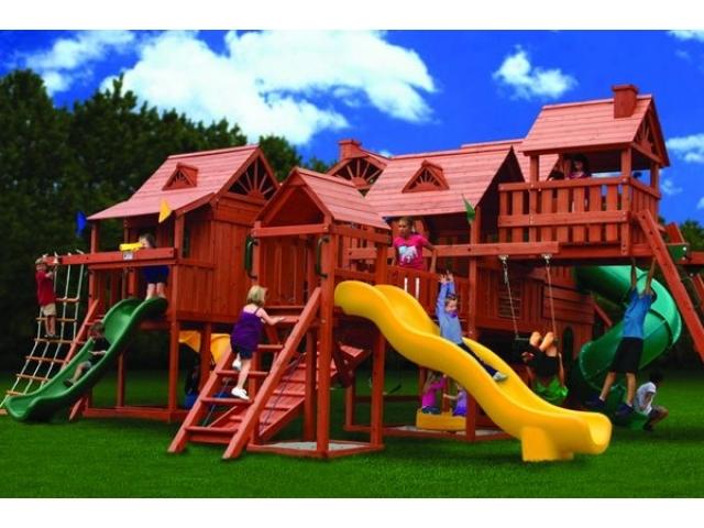 Детская деревянная площадка «Метрополис»