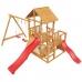 Деревянная детская площадка «Сибирика»  с двумя горками