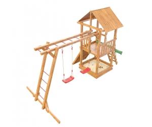 Деревянная детская площадка «Сибирика» с рукоходом