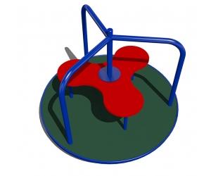 04406 Карусель с полом из резиновой крошки