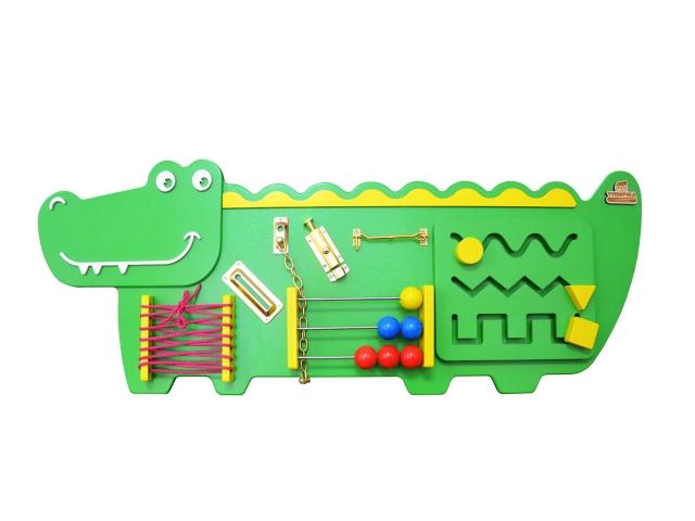 """Бизиборд """"Крокодильчик"""""""