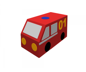 Контурная игрушка «Пожарная машина»