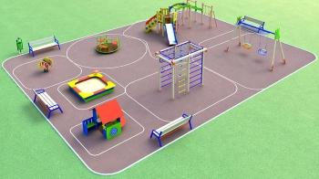 3D проекты детских площадок ДиКом