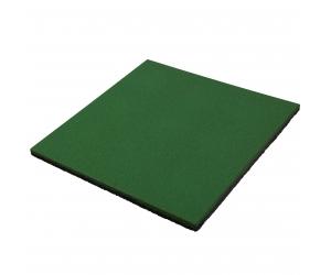 Резиновая плитка 500х500х20 мм. Зеленая