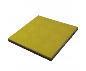 Резиновая плитка 500х500х40 мм. Горчичная