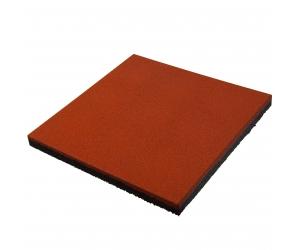 Резиновая плитка 500х500х40 мм. Терракотовая