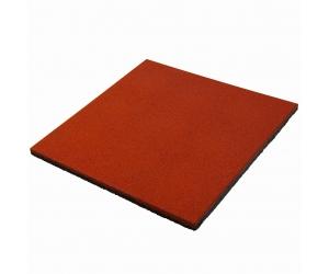 Резиновая плитка 500х500х20 мм. Терракотовая