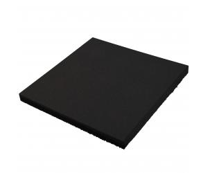 Резиновая плитка 500х500х40 мм. Черная