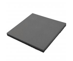 Резиновая плитка 500х500х40 мм. Серая