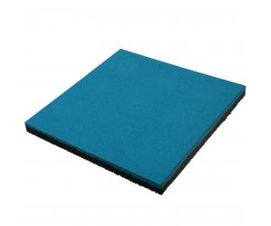 Резиновая плитка 500х500х40 мм. Синяя