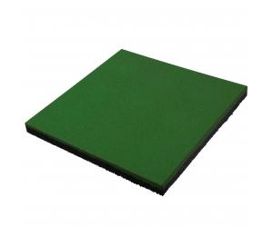 Резиновая плитка 500х500х40 мм. Зеленая