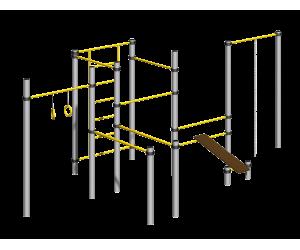 Спортивный мультикомплекс с канатом и кольцами 501.35.00